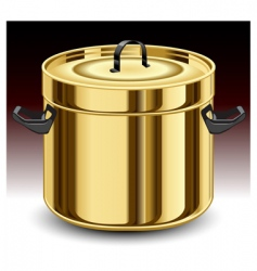 gold pan vector image vector image