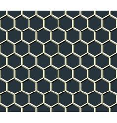 grid of hexagons vector image