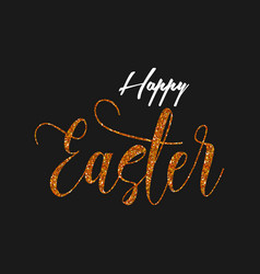 Happy easter glitter style background vector