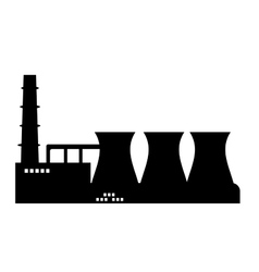 Industry icon silhouette vector