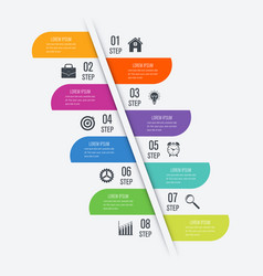 Infographic design template eight option vector