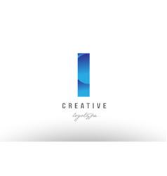 L blue gradient alphabet letter logo icon design vector