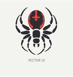 Line flat color wildlife fauna icon black vector
