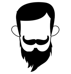 Man with mustache and beard vector