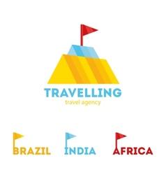 modern bright creative travel company mountain vector image vector image