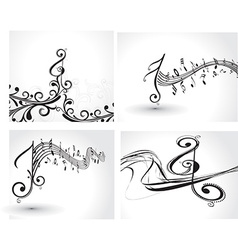 Music notes design set vector image