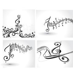 Music notes design set vector image