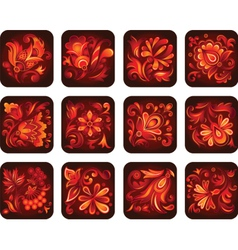 ornamental flowers vector image vector image
