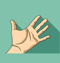 Palm hand flat hand vector