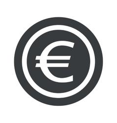 Round black euro sign vector image
