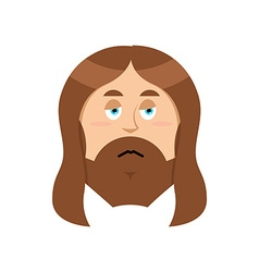 Sad Jesus Sorrowful Christ Bored Son of God Tired vector image vector image
