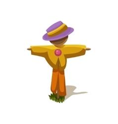 Scarecrow simplified cute vector