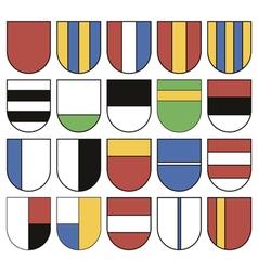 Set of twenty different shields vector