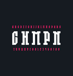 Slab serif font in the sport style vector