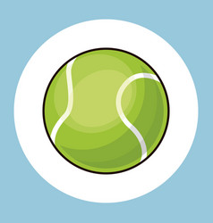 tennis ball equipment icon vector image