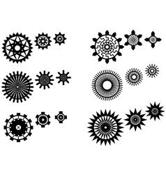 Unique gear wheels set vector