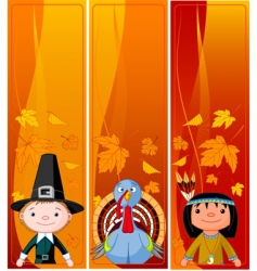 vertical thanksgiving banners vector image