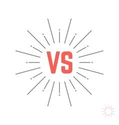 vintage versus emblem like struggle vector image vector image