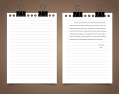 White paper ready for your message vector