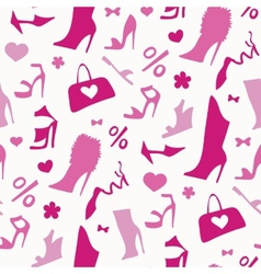 Women shoes Seamless pattern vector image