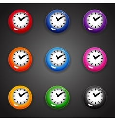 Colorful cartoon style clock timer for game vector