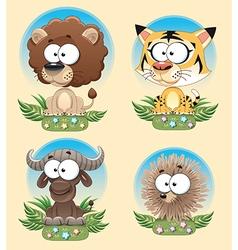 Animal savannah background vector