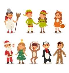 Kids costume vector image