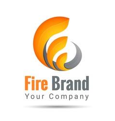 Fire volume logo colorful 3d volume logo design vector
