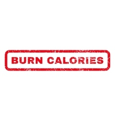 Burn calories rubber stamp vector