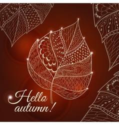 Leaf doodle vector