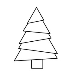 Monochrome silhouette of christmas tree vector