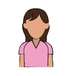 faceless woman icon image vector image