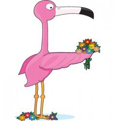 animal alphabet flamingo vector image