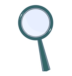 Magnifying glass isolated on white background vector