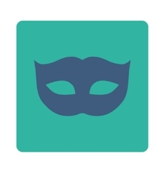 Privacy mask flat cobalt and cyan colors rounded vector