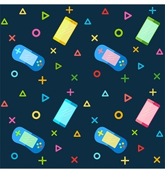 Mobile phones colorful controllers pattern vector