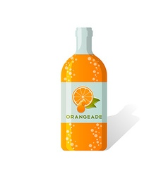 Orangeade bottle vector