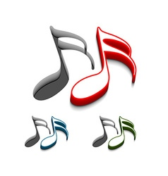 Music web icons vector