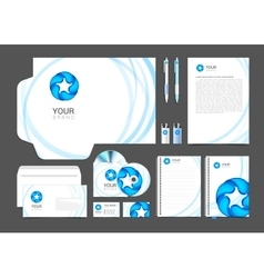 Corporate identity template water drop brandbook vector