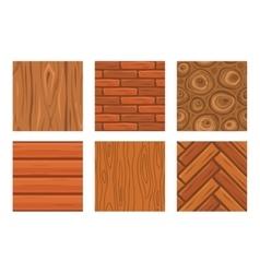 Cartoon wooden seamless textures vector image
