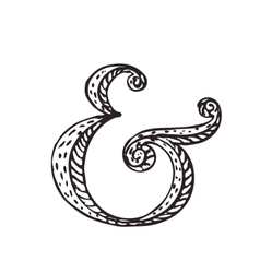Ampersand for decoration vector image vector image
