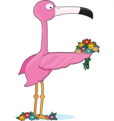 animal alphabet flamingo vector image vector image