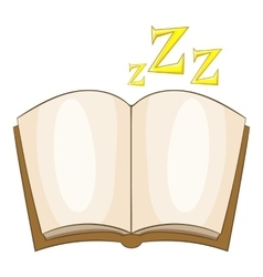 Bedtime story icon cartoon style vector