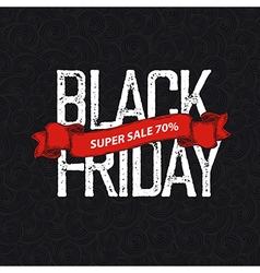 Black Friday poster vector image