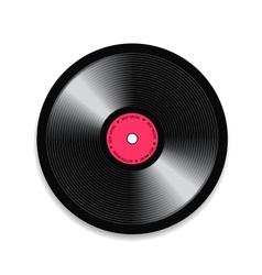 Black vinyl record vector