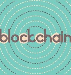 blockchain dashed circles vector image vector image