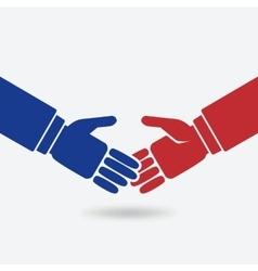 business teamwork logo concept vector image vector image