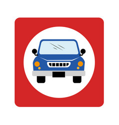 Car waggon vehicle icon vector