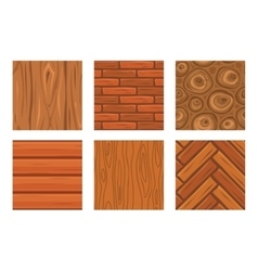 Cartoon wooden seamless textures vector image vector image