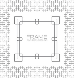 Decorative frame labels or badges on background vector image vector image